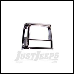 Omix-ADA Headlight Bezel Passenger Side BLACK/CHROME For 1991-96 Jeep Cherokee 12419.14