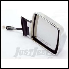 Omix-ADA Mirror Manual Remote Control Chrome Passenger Side For 1984-96 Jeep Cherokee 12035.14