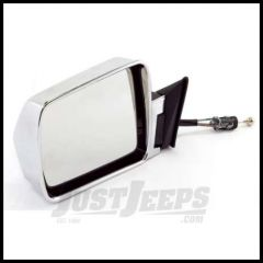 Omix-ADA Mirror Manual Remote Control Chrome Driver Side For 1984-96 Jeep Cherokee 12035.15
