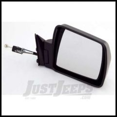 Omix-ADA Mirror Manual Remote Control Passenger Side Black for 1984-96 Jeep Cherokee 12035.10