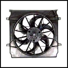 Omix-ADA Radiator Fan Assembly Electric For 2002-04 Jeep Liberty 2.4L And 3.7L 17102.55