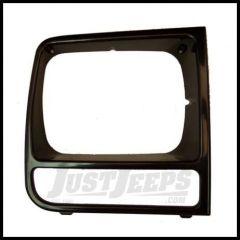 Omix-ADA Headlight Bezel Passenger Side BLACK For 1997-01 Jeep Cherokee XJ 12419.18