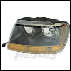 Omix-ADA Headlight Asssembly Driver Side For 1999-04 Jeep Grand Cherokee Laredo 12402.09