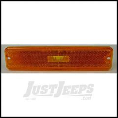Omix-ADA Marker Light Lens Side Amber Driver or Passenger Side For 1987-95 Jeep Wrangler YJ 12401.06