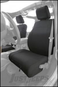 SmittyBilt G.E.A.R. Custom Fit Front Seat Covers in Black For 2003-06 Jeep Wrangler TJ & TLJ Unlimited Models 56647501