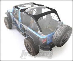 SmittyBilt MOLLE Sport Bar Cover Kit in Black For 2007-18 Jeep Wrangler JK Unlimited 4 Door Models 5666201