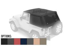 BESTOP Trektop NX Plus With Tinted Windows For 2007-18 Jeep Wrangler JK 2 Door Models 56852-