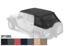BESTOP Trektop NX Plus With Tinted Windows For 2007-18 Jeep Wrangler JK Unlimited 4 Door Models 56853-