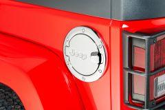 MOPAR (Chrome) Fuel Filler Door For 2007-18 Jeep Wrangler JK 2 Door Models 82214788