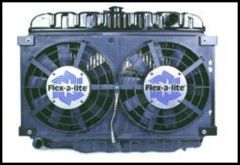 Flex-A-Lite Electric Dual Puller Fan Straight Blade for 1973-86 CJ Series 575