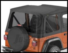 BESTOP Tinted Window Kit For Factory Original & Replace-A-Top In Black Denim For 1997-02 Jeep Wrangler TJ 58121-15