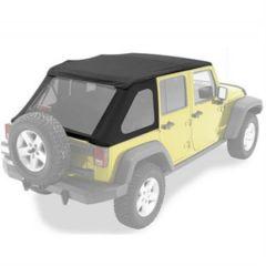 BESTOP Replace-A-Top for BESTOP Trektop NX In Black Twill For 2007-18 Jeep Wrangler JK Unlimited 4 Door Models 59723-17