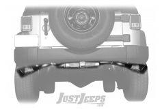 """Gibson Performance Metal Mulisha Black Ceramic 5"""" Dual Side Exhaust For 2007-18 Jeep Wrangler JK 2 Door & Unlimited 4 Door Models 60-0031"""