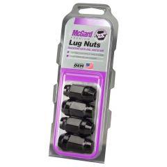 "McGard Black Bulge Cone Seat Style Lug Nut Set (1/2""-20 Thread Size) - Set of 4 Lug Nuts 64029"