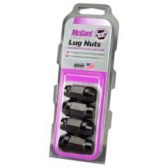 McGard Black Bulge Cone Seat Style Lug Nut Set (M14 X 1.5 Thread Size) – Set of 4 Lug Nuts 64074