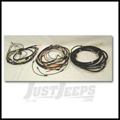 Omix-ADA Wiring Harness For 1945-46 Jeep CJ2A Exact Fit Cloth (Horn on Firewall, Horn Brush on Steering Column, Includes Turn Signal Wires, Non Military) 17201.02