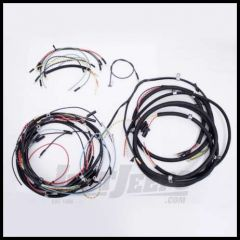 Omix-ADA Wiring Harness For 1946-49 Jeep CJ2A Exact Fit Cloth (Horn on Firewall, Horn Brush on Steering Column, Includes Turn Signal Wires, Non Military) 17201.04