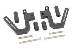 Rough Country Aluminum Front Grab Handles For 2007-18 Jeep Wrangler JK 2 Door & Unlimited 4 Door Models 6507