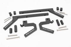 Rough Country Aluminum Grab Handle Set For 2007-18 Jeep Wrangler JK 2 Door & Unlimited 4 Door Models 6509