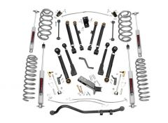 "Rough Country 4"" X-Series Suspension Lift Kit With Premium N3 Shocks For 1997-06 Jeep Wrangler TJ & TJ Unlimited Models 66130"