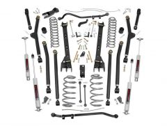 """Rough Country 4"""" Long Arm Suspension Lift Kit With Premium N3 Series Shocks For 1997-06 Jeep Wrangler TJ Models 66330"""