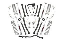"Rough Country 4"" X Series Suspension lift Kit With Premium N3 Series Shocks For 2007-18 Jeep Wrangler JK Unlimited 4 Door Models 67430"