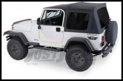 Rampage Complete Soft Top Kit With Tinted Windows In Black Diamond For 1987-95 Jeep Wrangler YJ With Full Steel Doors 68035