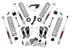"Rough Country 3½"" Lift Kit With Premium N3 Series Shocks For 2007-18 Jeep Wrangler JK 2 Door Models 69330"