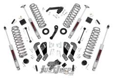 """Rough Country 3½"""" Lift Kit With Premium N3 Series Shocks For 2007-18 Jeep Wrangler JK Unlimited 4 Door Models 69430"""