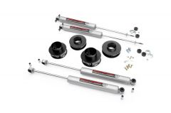 """Rough Country 2"""" Spring Spacer Lift Kit With Premium N3.0 Series Shocks For 1999-04 Jeep Grand Cherokee WJ 69530"""