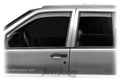 WeatherTech Front & Rear Side In-Channel Window Deflector Set For 1993-98 Jeep Grand Cherokee ZJ Models 72060