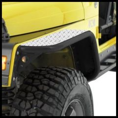 Warrior Products Front Tube Flares For 1997-06 Jeep Wrangler TJ Models (Diamond Plate) 7301