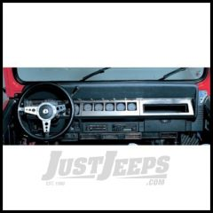 Rampage Dash Overlay In Stainless Steel For 1987-95 Jeep Wrangler YJ 7413