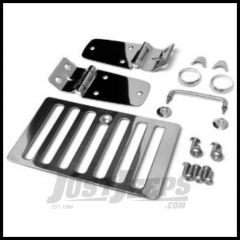 Rampage Hood Set Stainless Steel For 1998-06 Jeep Wrangler TJ (Hood Hinges, Vent, Footman & Winshield Tie-Downs) 7465