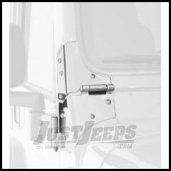 Rampage Windshield Hinges In Stainless Steel For 1997-06 Jeep Wrangler TJ/TLJ Unlimited Models 7493