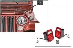 Quadratec Gen Standard II LED Headlights & LED Tail Light Kit Standard for 76-86 Jeep CJ-5 & CJ-7 97109CJS-