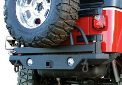 Rampage Rear Recovery Bumper With Swing Away Tire Carrier For 1987-06 Jeep Wrangler YJ & TJ (lights sold separately) 76610