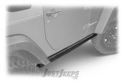 SmittyBilt SRC Classic Rock Rails Factory Style In Black Textured For 2007-18 Jeep Wrangler JK 2 Door Models 76635