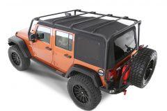 SmittyBilt SRC Roof Rack In Black Textured For 2007-18 Jeep Wrangler JK Unlimited 4 Door Models 76717