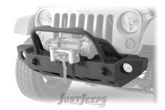 SmittyBilt SRC Carbine Front Bumper For 2007-18 Jeep Wrangler JK 2 Door & Unlimited 4 Door Models 76744