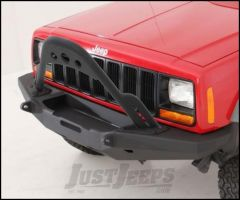 SmittyBilt XRC XJ Stinger For XRC Rock Crawler Winch Front Bumper in Black For 1984-01 Jeep Cherokee XJ 76812