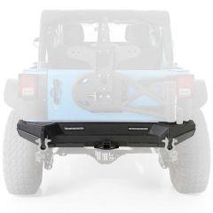 """SmittyBilt XRC GEN2 Rear Bumper With 2"""" Hitch Receiver In Black Textured For 2007-18 Jeep Wrangler JK 2 Door & Unlimited 4 Door Models 76858"""