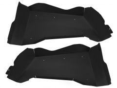 Genright Off Road Rear Black Aluminum Inner Fenders For 2007-18 Jeep Wrangler JK 2 Doors TFR-8SIF-PC