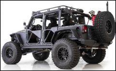 SmittyBilt XRC Rear Quarter Panel Armor Skins in Black For 2007-18 Jeep Wrangler JK Unlimited 4 Door Models 76982