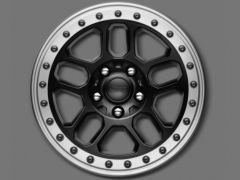 MOPAR Satan Black With Silver Trim Rim Bead Lock Capable Wheel 17x8.0 Wheel 5x5 With 5.0 BS 77072466AB