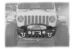 SmittyBilt XRC Gen 2 Front Stubby Bumper For 2018+ Jeep Gladiator JT & Wrangler JL 2 Door & Unlimited 4 Door Models 77807