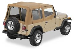 BESTOP Replace-A-Top With Door Skins & Clear Rear Windows In Spice Sailcloth For 1988-95 Jeep Wrangler YJ Models 79120-37
