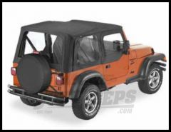 BESTOP Replace-A-Top With Half Door Skins & Clear Windows In Sailcloth Black Denim For 1997-02 Jeep Wrangler TJ Models 79121-01