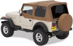 BESTOP Replace-A-Top With Door Skins & Tinted Rear Windows In Sailcloth Spice For 1988-95 Jeep Wrangler YJ Models 79123-37