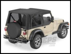 BESTOP Replace-A-Top With Half Door Skins & Tinted Windows In Black Denim For 1997-02 Jeep Wrangler TJ Models